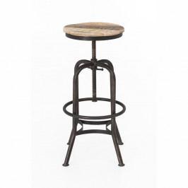 Barová stolička s kovovou konstrukcí WOOX LIVING Industrial