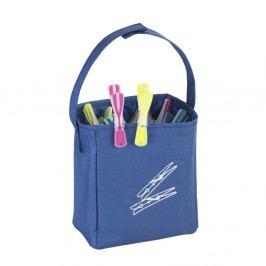 Modrý závěsný košík na kolíčky na prádlo Wenko Peg