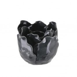 Černý kameninový svícen ASimple Mess Svir
