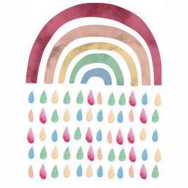 Nástěnná vinylová samolaepka Tanuki Rainbow