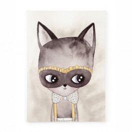 Obraz na plátně Tanuki Misterious Cat, 70x50cm
