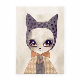 Obraz na plátně Tanuki Watercolor Cat, 70x50cm