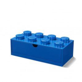 Modrý stolní box se zásuvkou LEGO®, 31x16cm