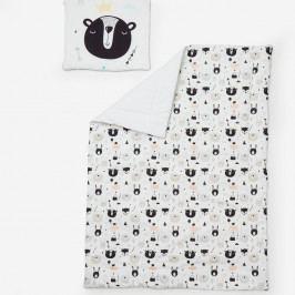 Set dětské peřinky s polštářem Pinio Happy Bears, 100 x 135 cm
