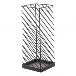 Černý stojan na deštníky YAMAZAKI Slash, šířka18cm