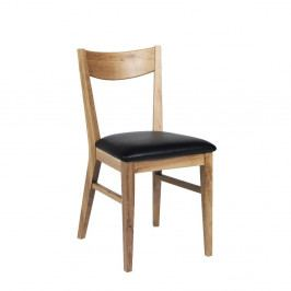 Hnědá dubová jídelní židle s černým podsedákem Rowico Dylan