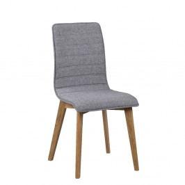 Šedá jídelní židle s hnědými nohami Rowico Grace