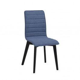 Modrá jídelní židle s černými nohami Folke Grace