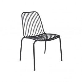Černá židle vhodná do exteriéru Leitmotiv Lineate