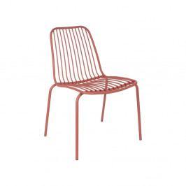 Jílově hnědá židle vhodná do exteriéru Leitmotiv Lineate