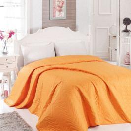 Oranžový přehoz přes postel Dreams 200 x 220 cm