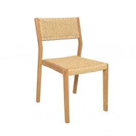 Sada 4 zahradních židlí z teakového dřeva Ezeis Moon