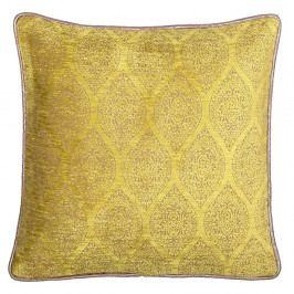 Žluto-béžový oboustranný polštář Kate Louise Carmina, 45 x 45 cm