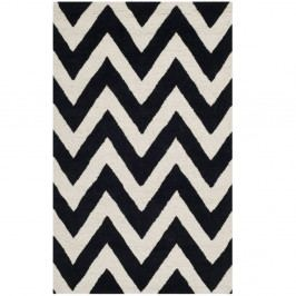Černý koberec Safavieh Stella, 152 x 91 cm