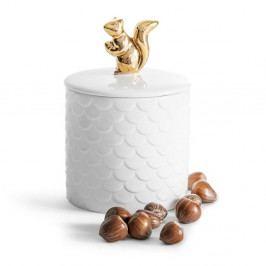 Porcelánová dóza s víkem Sagaform Squirrel