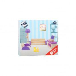 Set dřevěného nábytku pro panenky Legler Living Room
