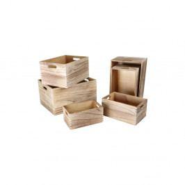 Sada 6 dřevěných úložných boxů Legler Wooden