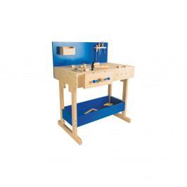 Set dětského dřevěného pracovního stolu s nářadím Legler Workbench
