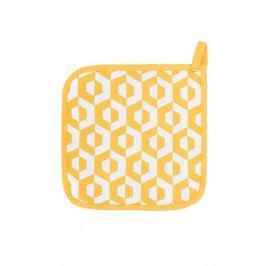 Sada 2 žlutých bavlněných chňapek Tiseco Home Studio Hexagon
