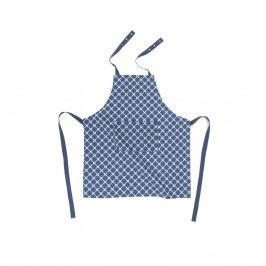 Modrá bavlněná zástěra Tiseco Home Studio Cross