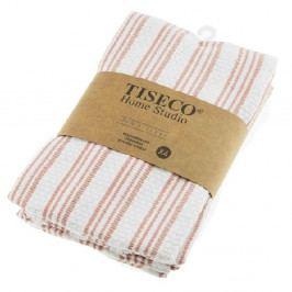 Sada 4 růžových bavlněných utěrek Tiseco Home Studio, 50 x 70 cm