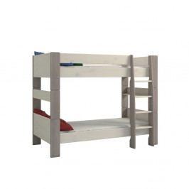 Bílá dětská palanda z borovicového dřeva s šedými nohy Steens For Kids, výška 164cm