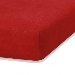 Červené elastické prostěradlo s vysokým podílem bavlny AmeliaHome Ruby, 120/140 x 200 cm