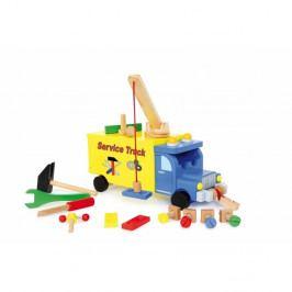 Dřevěná hrací sada s nákladním autem Legler Service