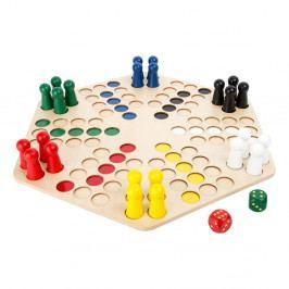 Dřevěná desková hra pro 6 hráčů Legler Ludo