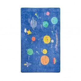 Dětský fialový koberec Space, 140x190cm