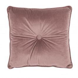Starorůžový polštář Tiseco Home Studio Velvet Button, 45x45cm