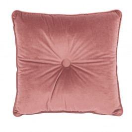 Růžový polštář Tiseco Home Studio Velvet Button, 45x45cm