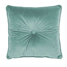 Světle zelený polštář Tiseco Home Studio Velvet Button, 45x45cm
