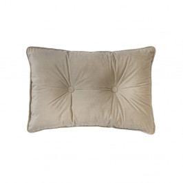 Světle béžový polštář Tiseco Home Studio Velvet Button, 40x60cm