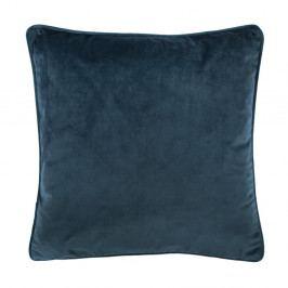 Tmavě modrý polštář Tiseco Home Studio Velvety, 45x45cm