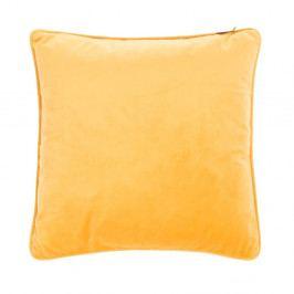Žlutý polštář Tiseco Home Studio Velvety, 45x45cm