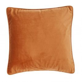 Tmavě oranžový polštář Tiseco Home Studio Velvety, 45x45cm