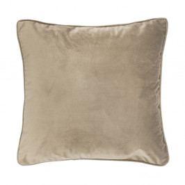 Světle béžový polštář Tiseco Home Studio Velvet, 45x45cm