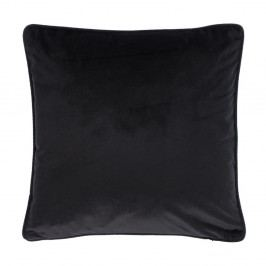 Černý polštář Tiseco Home Studio Velvety, 45x45cm