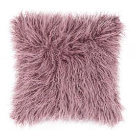 Růžový chlupatý polštář Tiseco Home Studio Mohair, 45x45cm