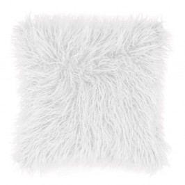 Bílý chlupatý polštář Tiseco Home Studio Mohair, 45x45cm