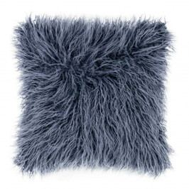 Modrý chlupatý polštář Tiseco Home Studio Mohair, 45x45cm
