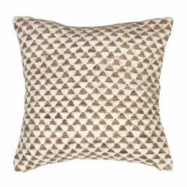 Béžový vzorovaný povlak na polštář Tiseco Home Studio Pyramide, 45x45cm