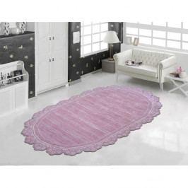 Růžový odolný koberec Vitaus Oval Pudra, 80 x 150 cm