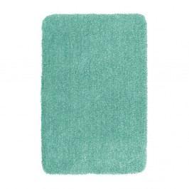 Tyrkysově modrá koupelnová předložka Wenko Mélange, 65x55cm