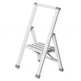 Bílé skládací schůdky Wenko Ladder Alu, výška74 cm