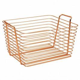 Oranžový kovový košík InterDesign Classico, 37,5x30cm