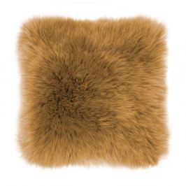 Hnědý polštář Tiseco Home Studio Sheepskin, 45 x 45 cm