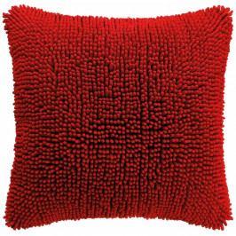Červený povlak na polštář Tiseco Home Studio Shaggy, 45 x 45 cm