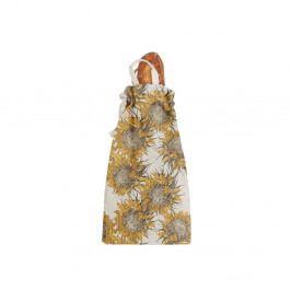 Látkový vak na chléb s příměsí lnu Linen Couture Bag Sunflower, výška 42 cm
